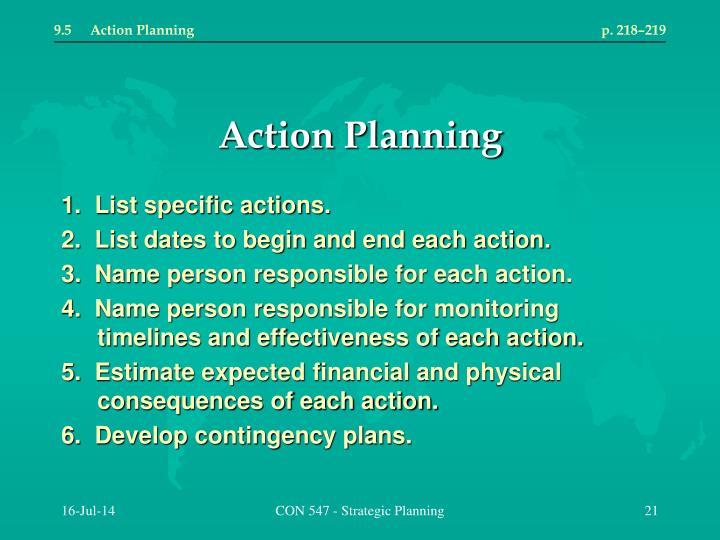 9.5Action Planningp. 218–219