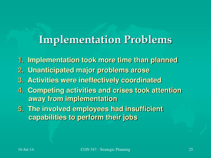 Implementation Problems
