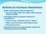 actions to increase awareness