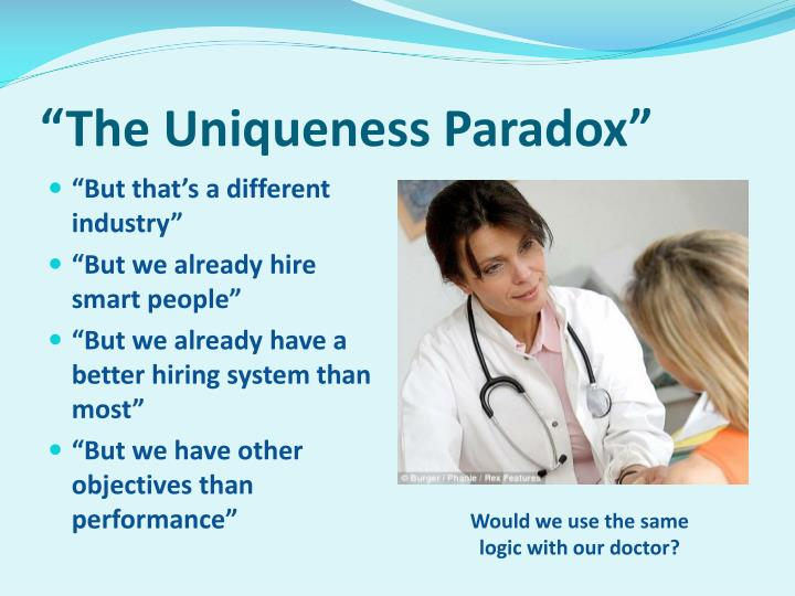 """The Uniqueness Paradox"""