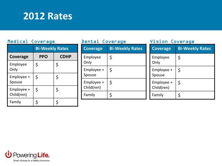 2012 Rates