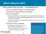 what s new for 2012