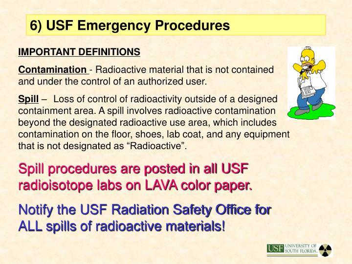 6) USF Emergency Procedures