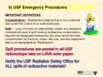 6 usf emergency procedures