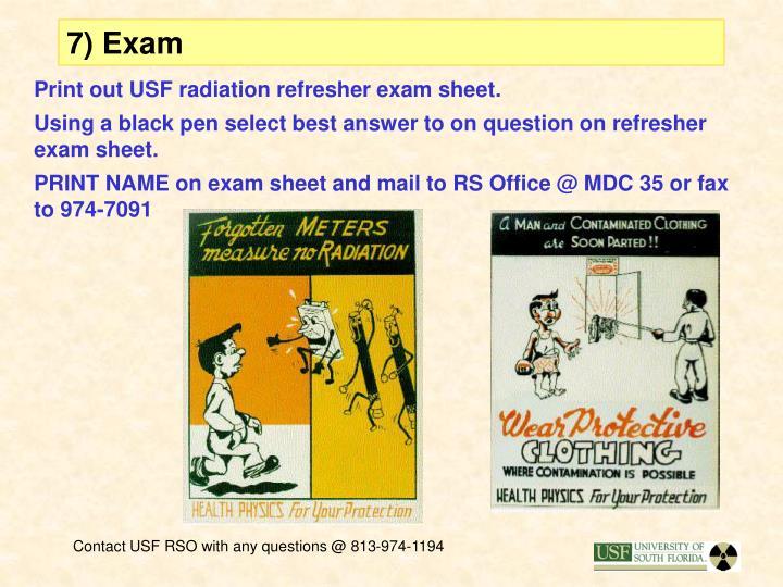 7) Exam