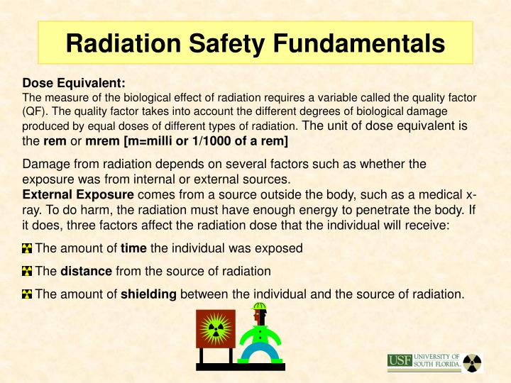 Radiation Safety Fundamentals