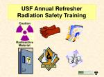 usf annual refresher radiation safety training