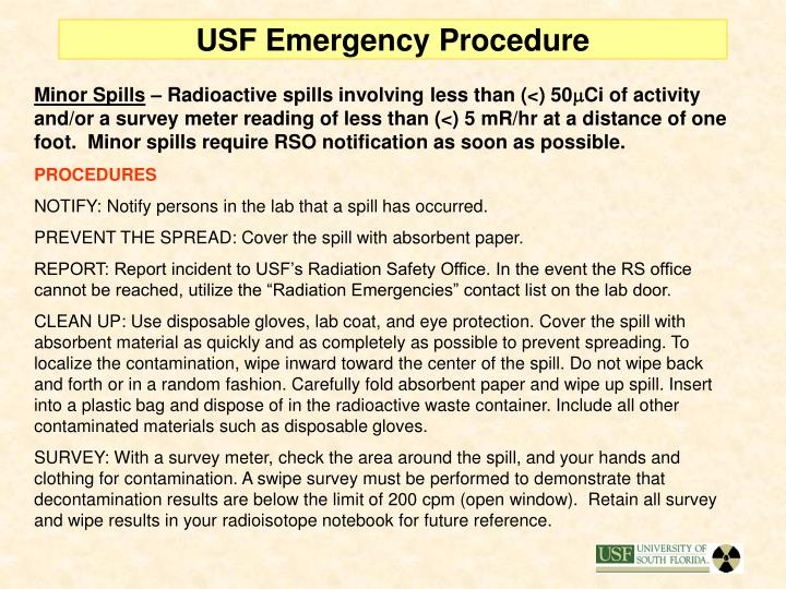 USF Emergency Procedure