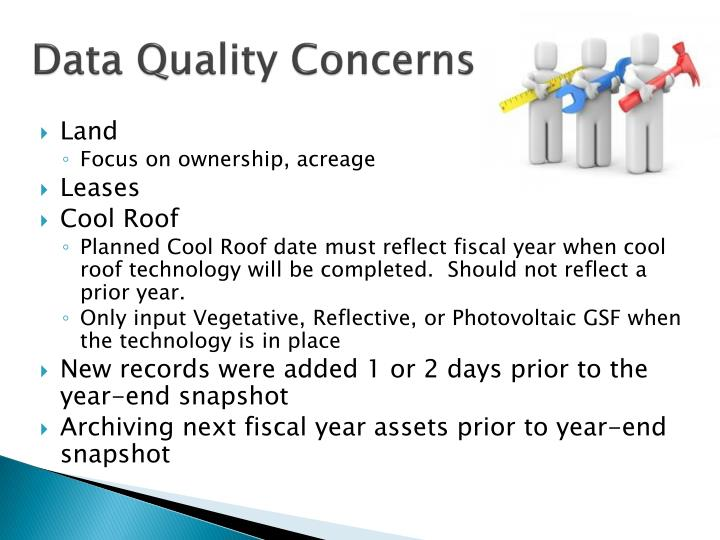 Data Quality Concerns