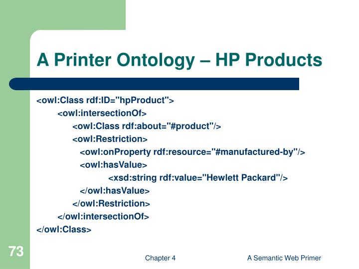 A Printer Ontology – HP Products