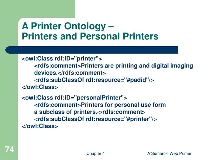 A Printer Ontology –