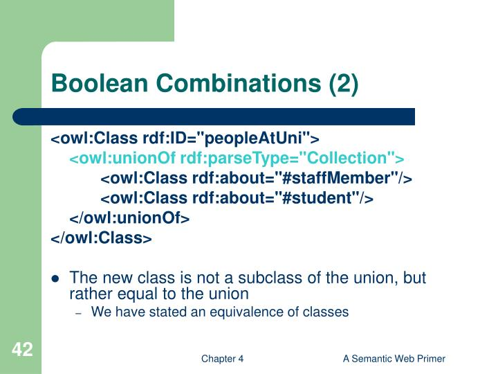 Boolean Combinations (2)