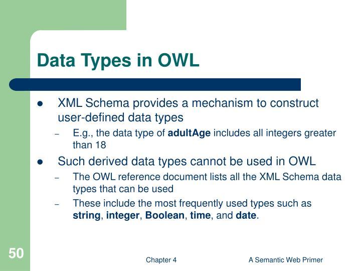 Data Types in OWL