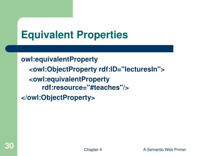 Equivalent Properties