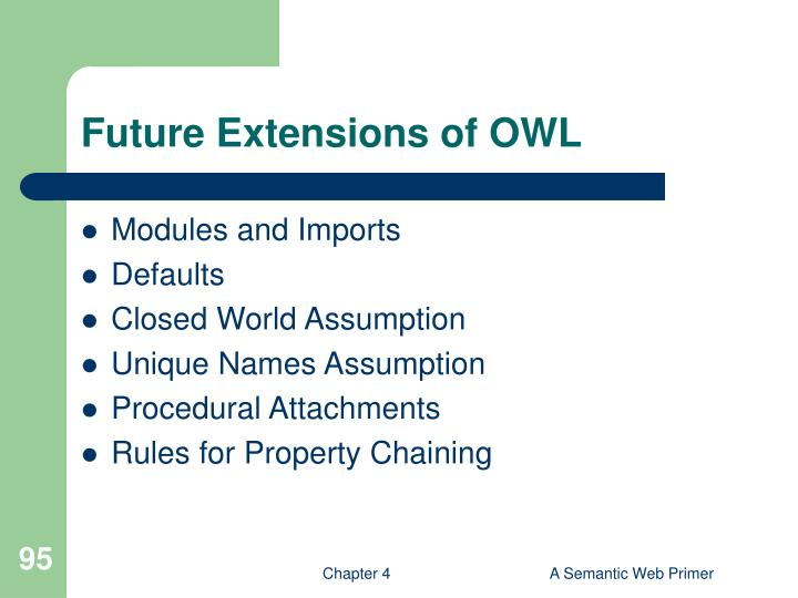 Future Extensions of OWL