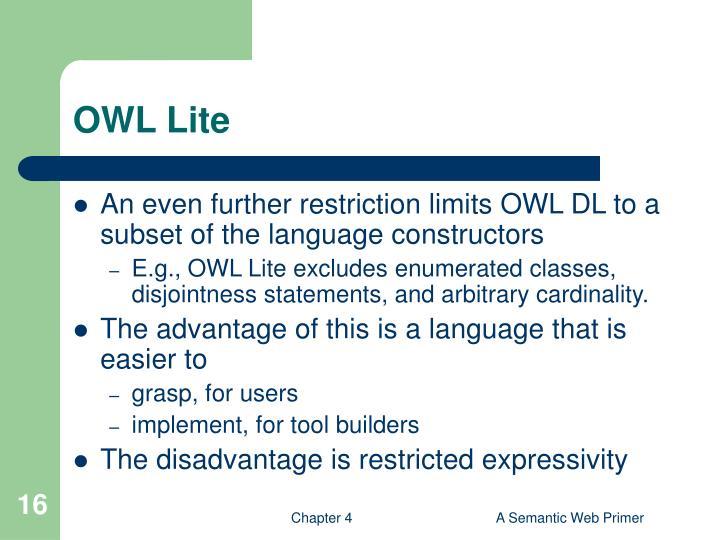 OWL Lite
