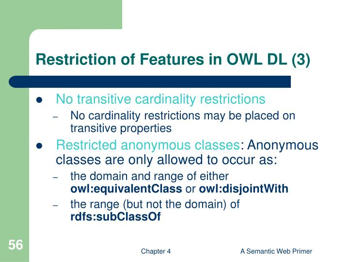 Restriction of Features in OWL DL (3)