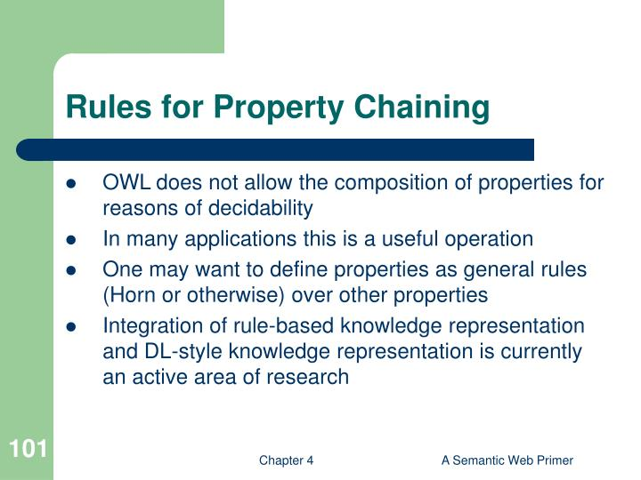 Rules for Property Chaining