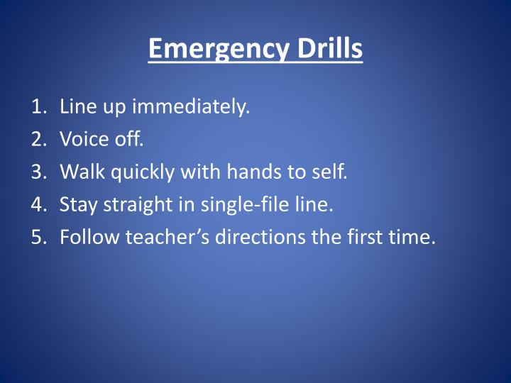 Emergency Drills