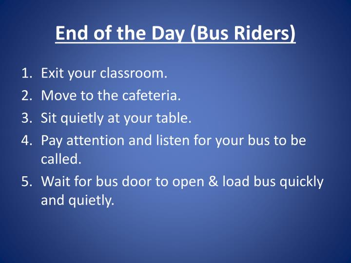 End of the Day (Bus Riders)