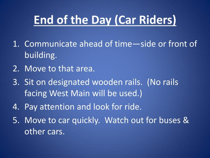End of the Day (Car Riders)