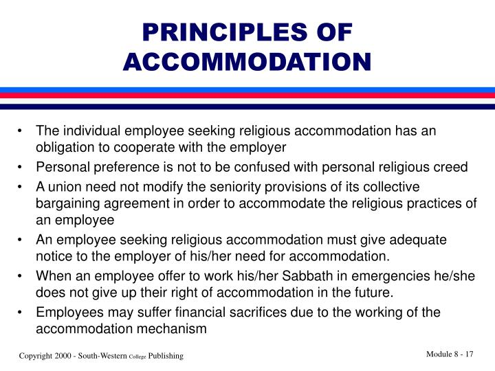 PRINCIPLES OF ACCOMMODATION