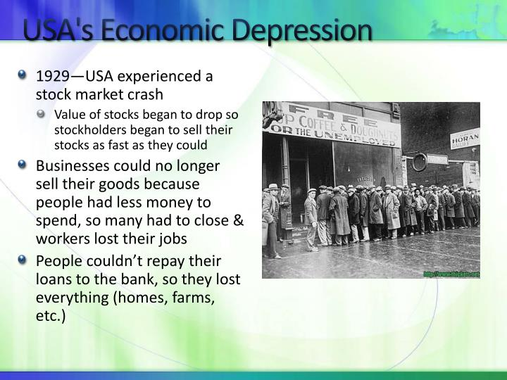 USA's Economic Depression