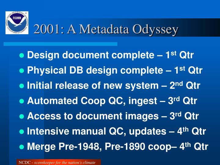2001: A Metadata Odyssey