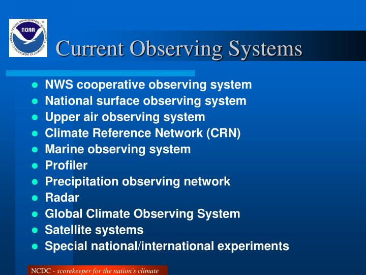 Current Observing Systems