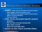 existing station history systems