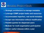 metadata project goals