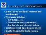 technological foundation cont d