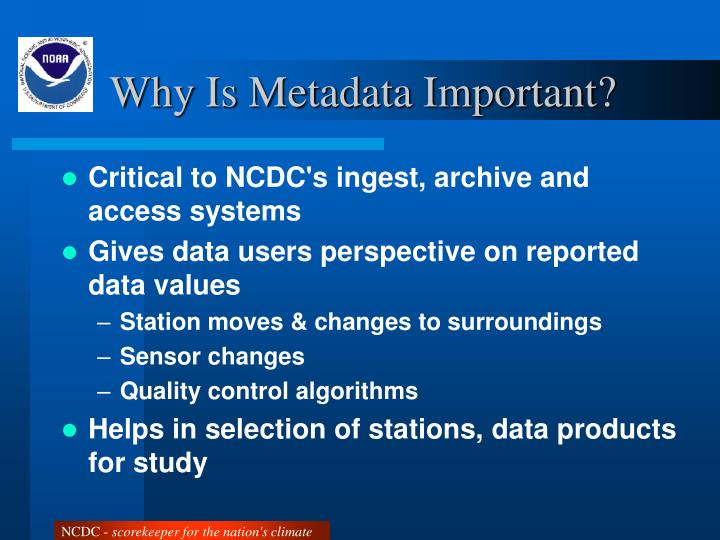 Why Is Metadata Important?