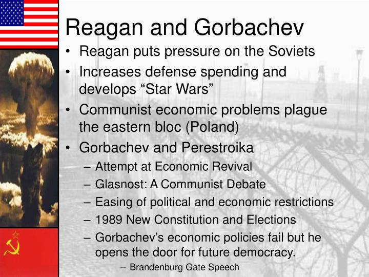 Reagan puts pressure on the Soviets