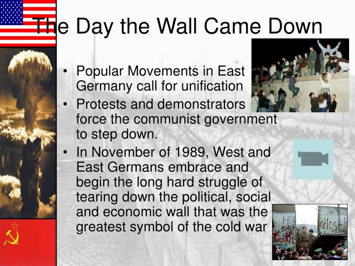 Popular Movements in East Germany call for unification