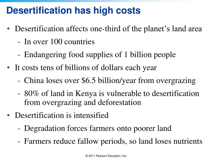 Desertification has high costs