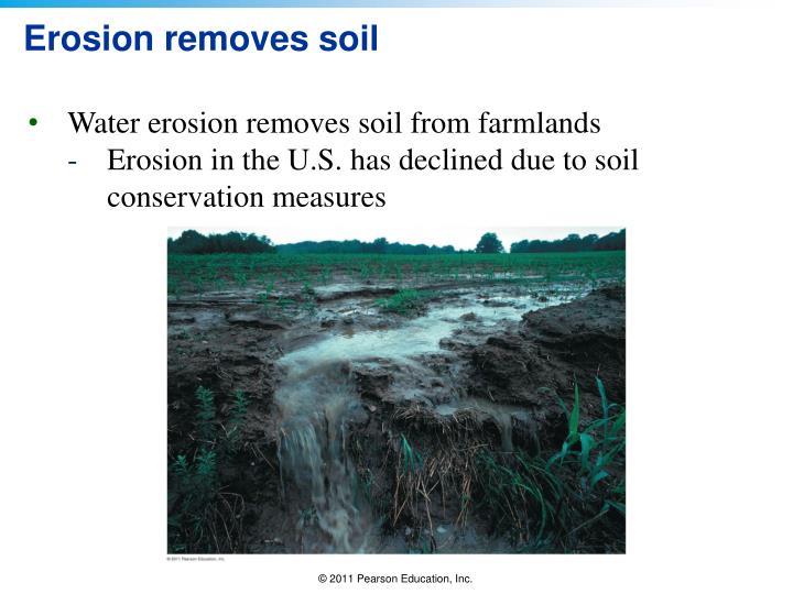 Erosion removes soil