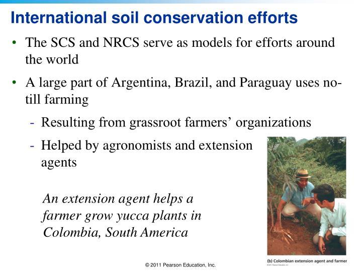 International soil conservation efforts