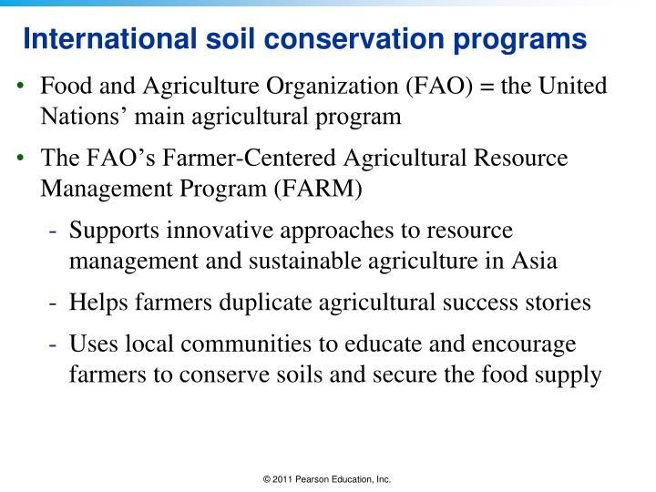 International soil conservation programs