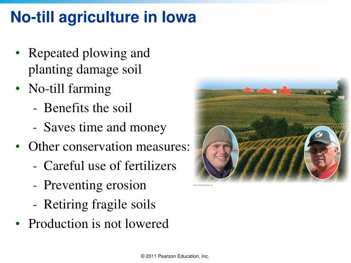 No till agriculture in iowa