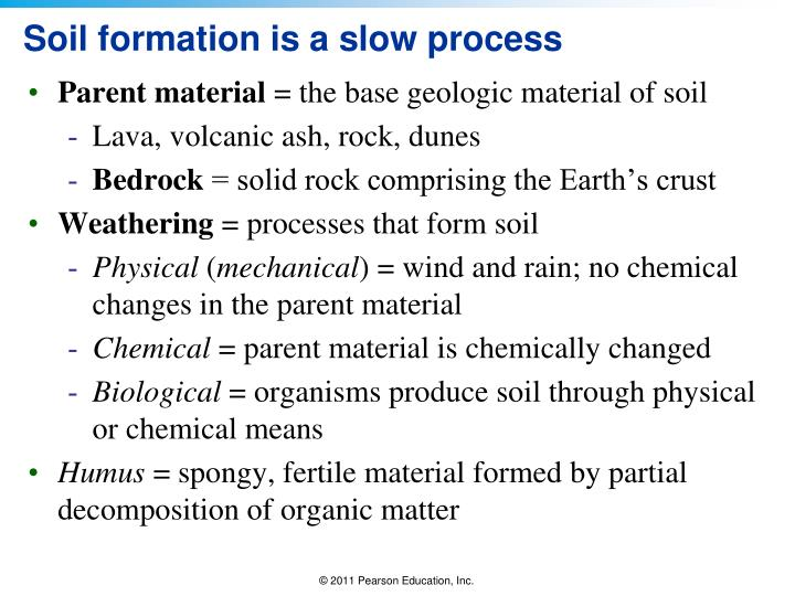 Soil formation is a slow process