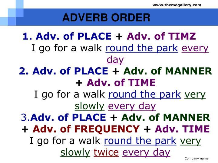 ADVERB ORDER