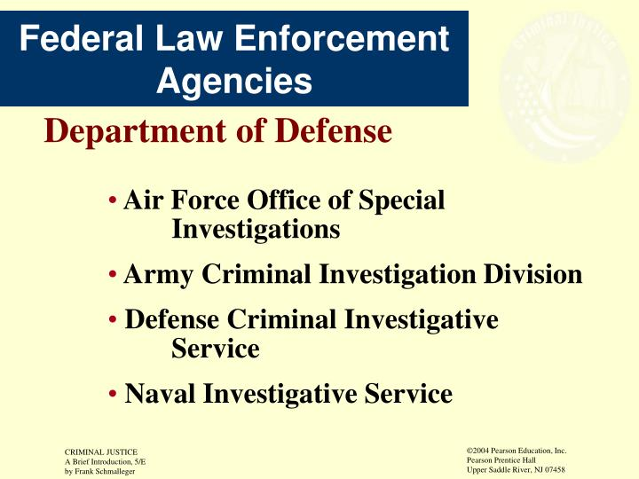 Federal Law Enforcement Agencies