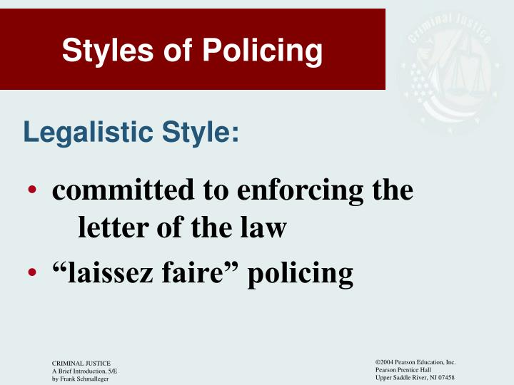 committed to enforcing the letter of the law