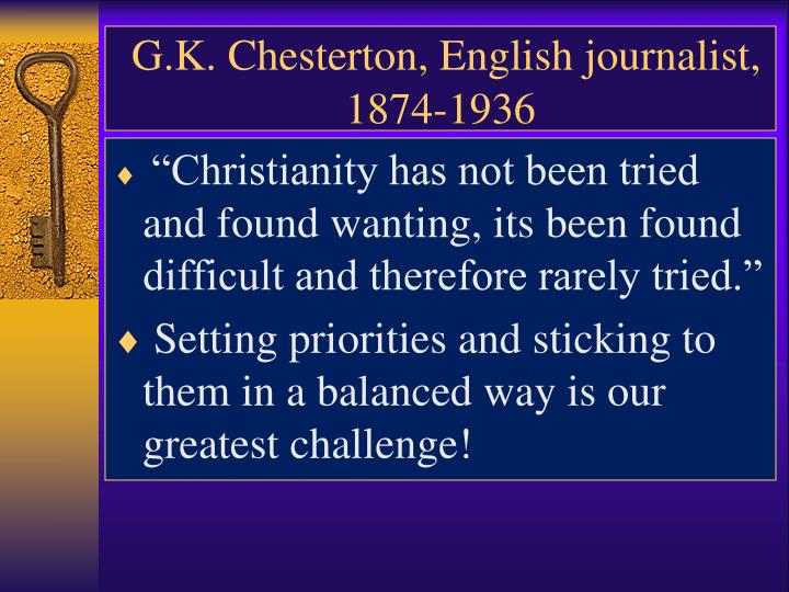 G k chesterton english journalist 1874 1936