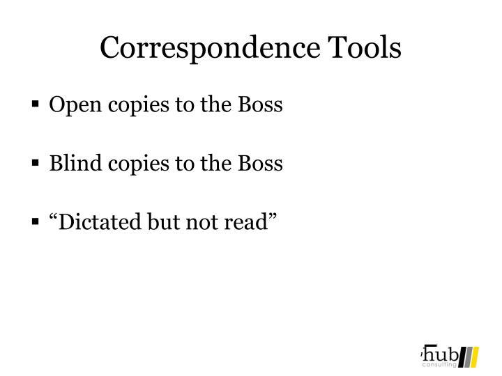 Correspondence Tools