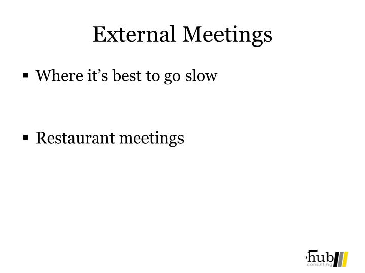 External Meetings
