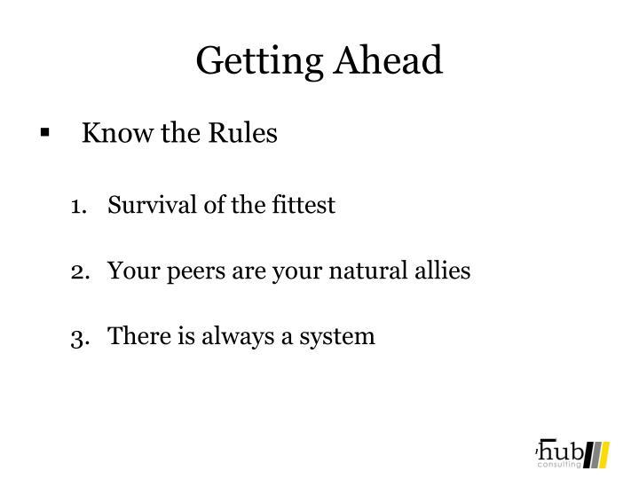 Getting Ahead