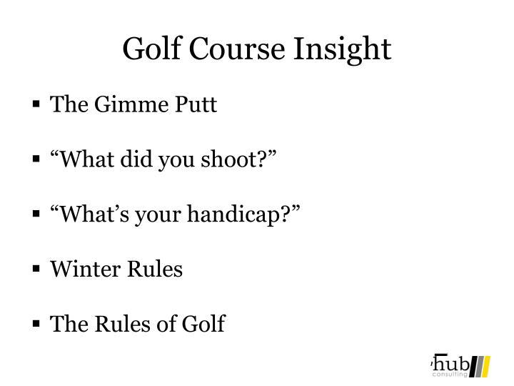 Golf Course Insight