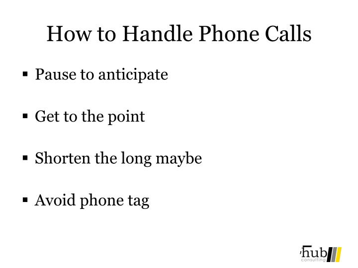 How to Handle Phone Calls